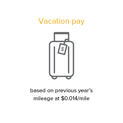 vacation pay driver benefit