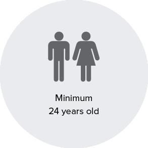 Minimum 24 years old