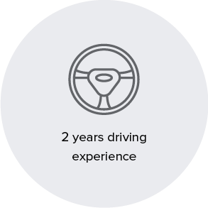 2 years driving experience